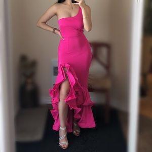 NWOT Fashion Nova Fuchsia Gown